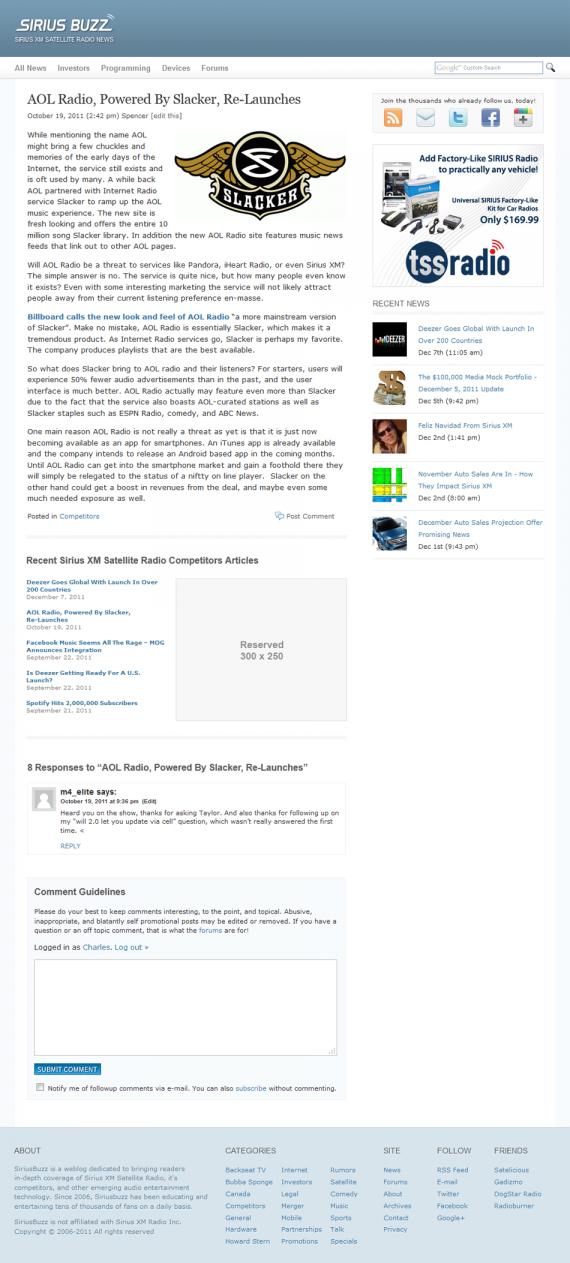 Siriusbuzz wordpress theme design